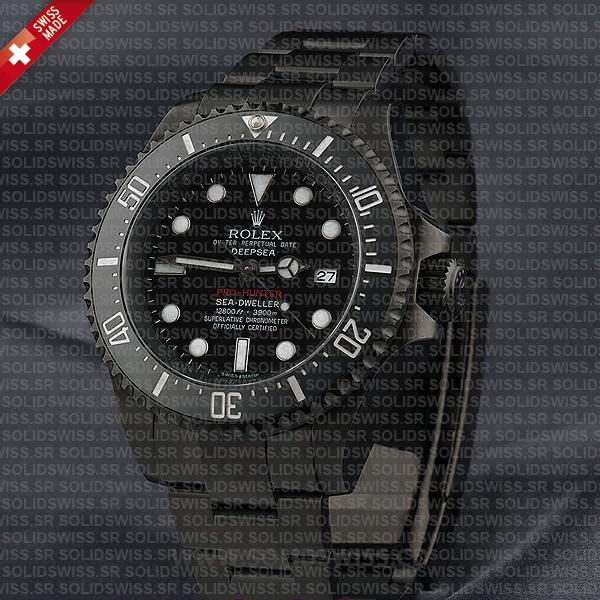 Rolex Sea-Dweller Deepsea DLC Pro Hunter Watch