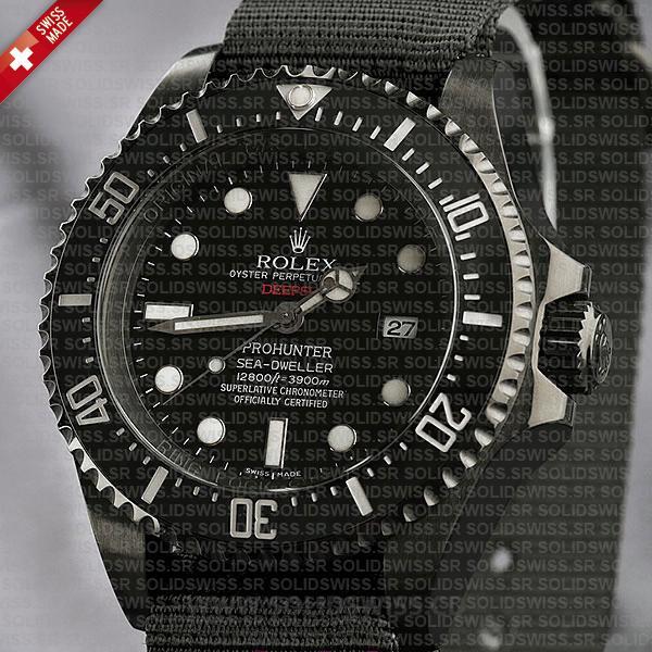 Rolex Deepsea Pro Hunter PVD Nato Strap 44mm Replica Watch