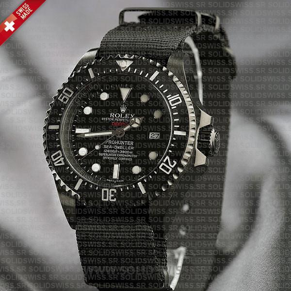 Rolex Deepsea Pro Hunter PVD Nato Strap 44mm Watch