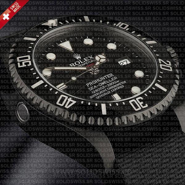 Rolex Deepsea Pro Hunter PVD Nato Strap 44mm Swiss Replica Watch