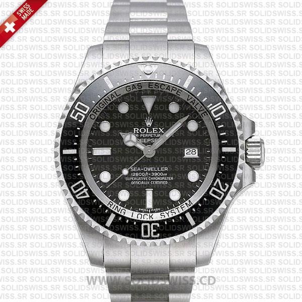 Rolex Deepsea Sea-Dweller 44mm Black Dial   904L Steel