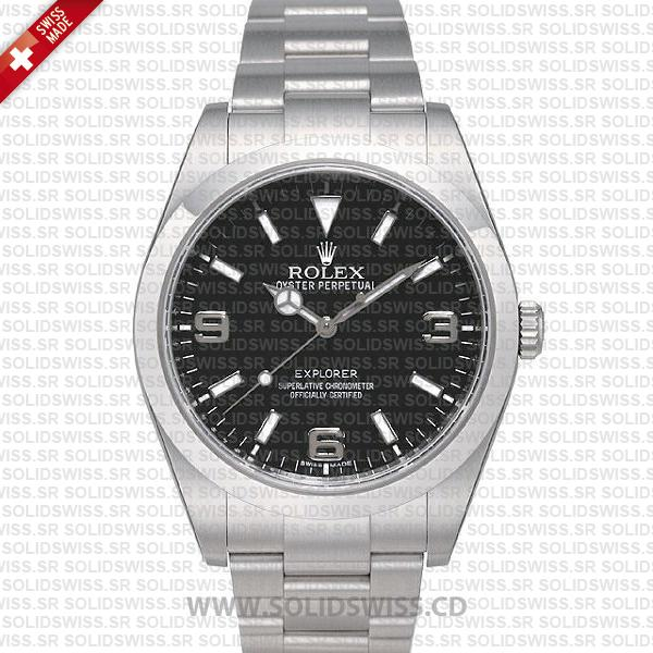 Rolex Explorer 1 Stainless Steel Black Dial | Solidswiss Watch