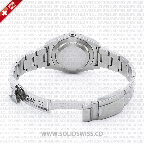 Rolex Explorer 1 Stainless Steel Black Dial Oysterlock safety clasp