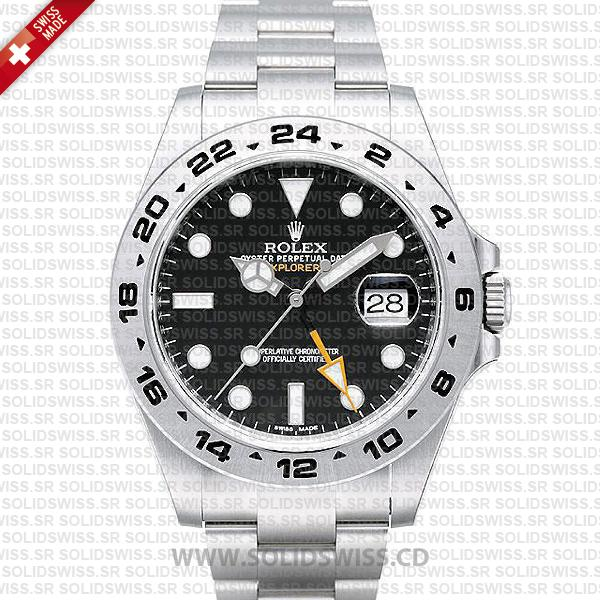 Rolex Explorer II Black Dial 42mm   Luxury Replica Watch
