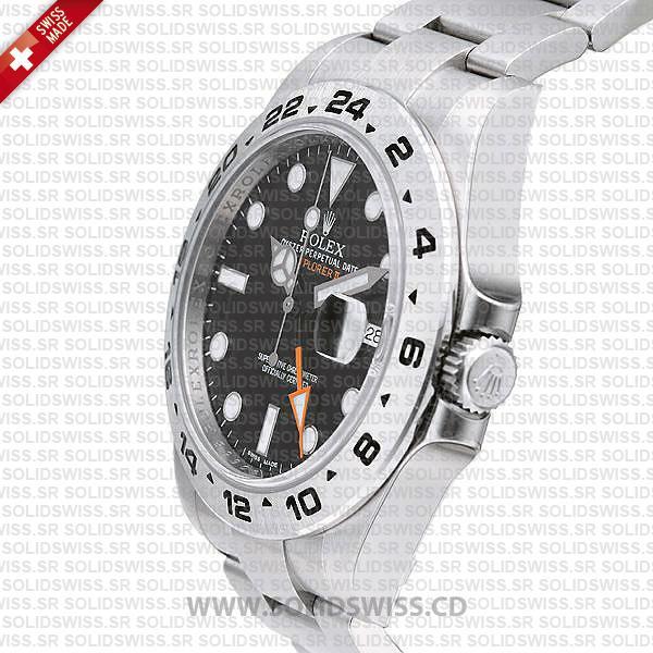 Rolex Explorer II Black Dial 42mm Replica Watch