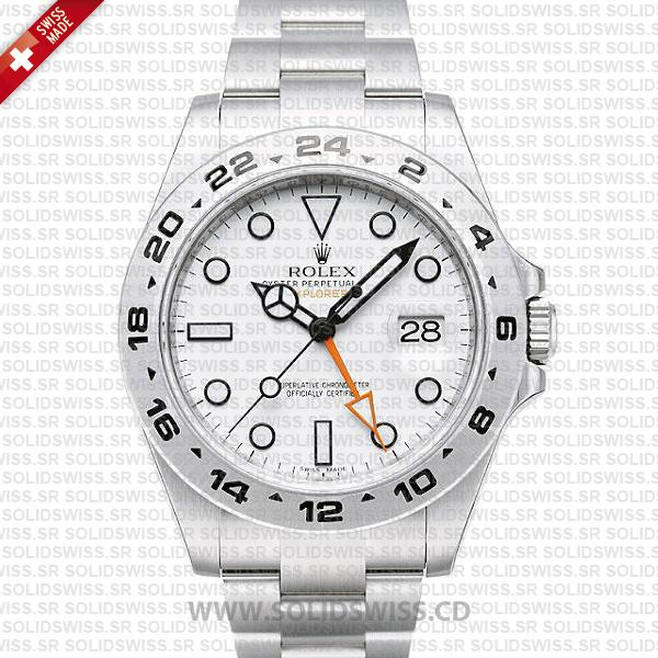Rolex Explorer II 42mm White Dial | Solidswiss Replica Watch