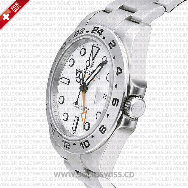 Rolex Explorer II SS White