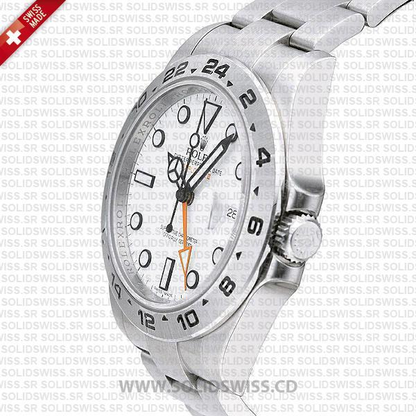 Rolex Explorer II 42mm White Dial Replica Watch