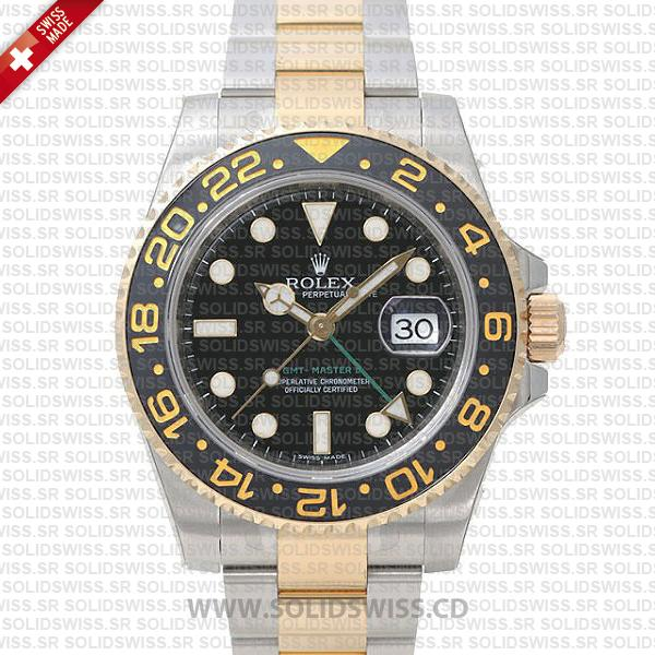 Rolex GMT-Master II Two Tone | 18k Yellow Gold Replica Watch