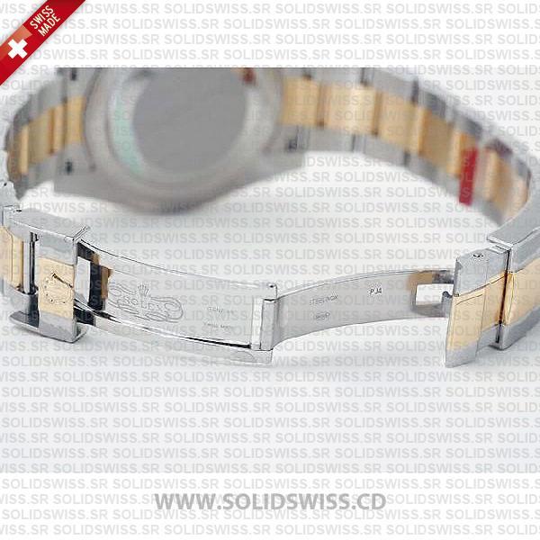 Rolex GMT-Master II Two-Tone 18k Yellow Gold Black Dial Replica Watch