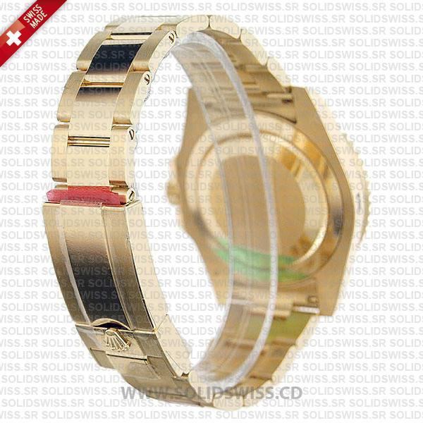 Rolex GMT-Master II Gold Black Dial Replica