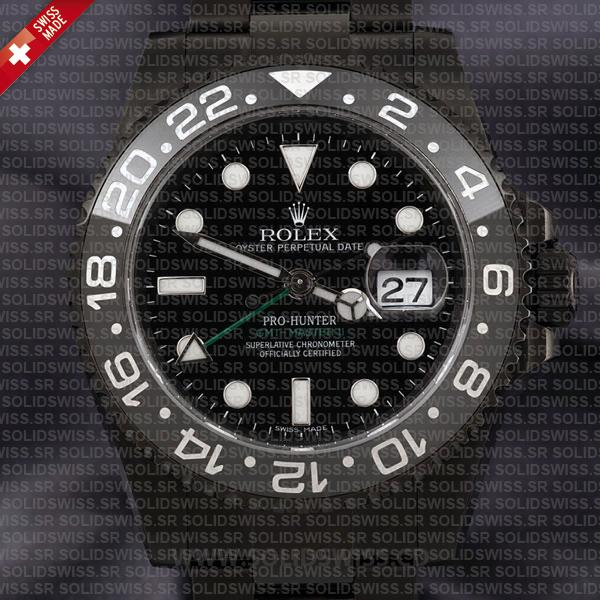 Rolex GMT-Master II Pro Hunter DLC Black Ceramic