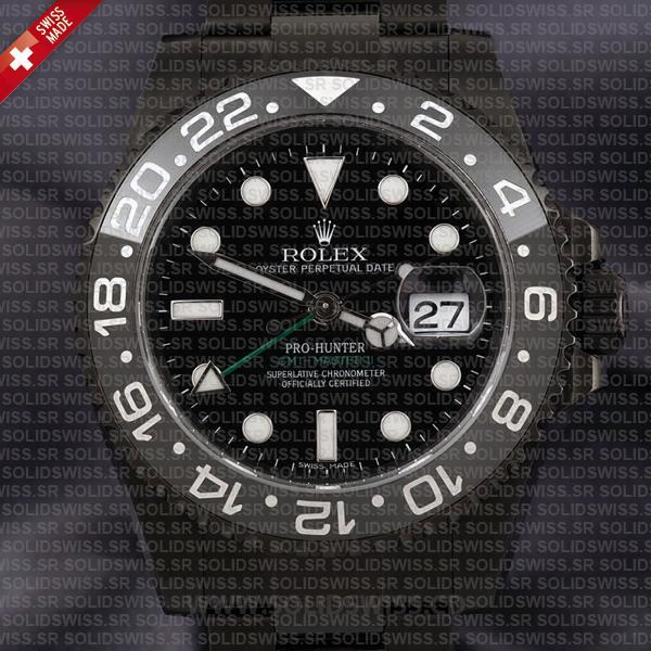 Rolex GMT-Master II Pro Hunter DLC Black Ceramic | Black Dial