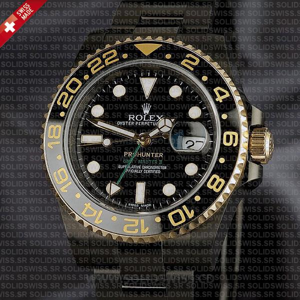 Rolex GMT-Master II Pro Hunter DLC Gold Black Ceramic Watch