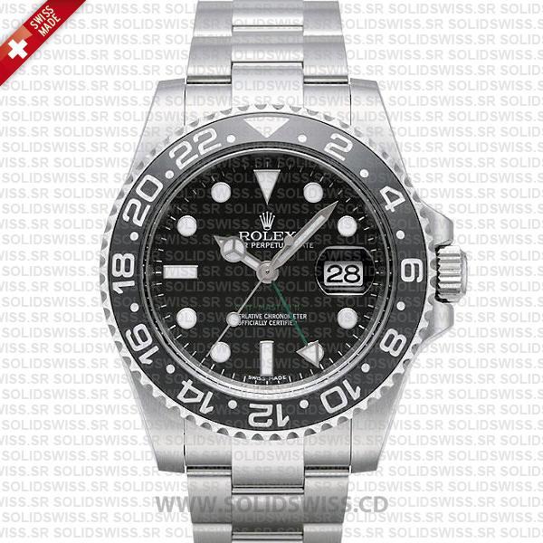Rolex GMT-Master II Black Ceramic Bezel | Solidswiss Watch