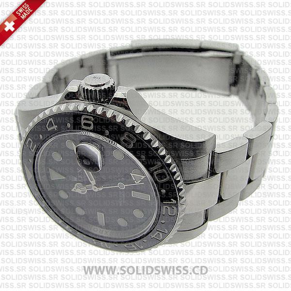 Rolex GMT-Master II Black Ceramic Bezel Watch