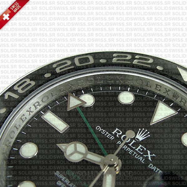 Rolex GMT-Master II Stainless Steel Black Ceramic Bezel Watch