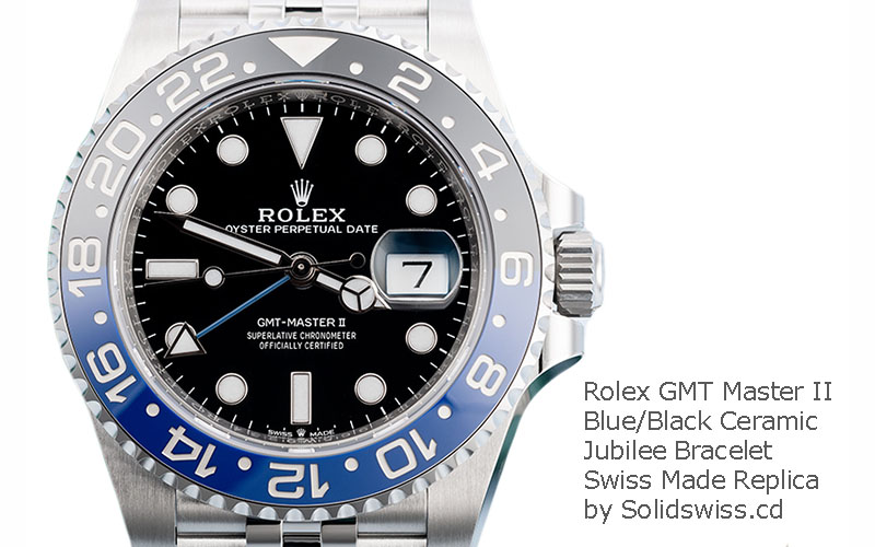 Rolex GMT-Master II Batman Blue Black Ceramic Bezel in Black Dial