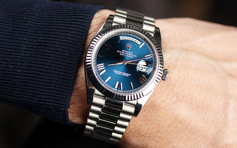 Rolex Day-Date 40 Blue Dial Replica Watch Specifications