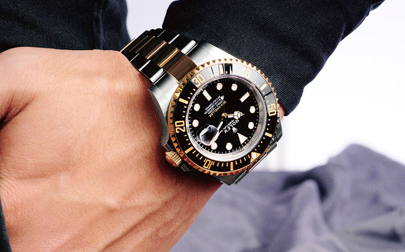 rolex sea-dweller 43mm steel gold 126603 swiss replica review