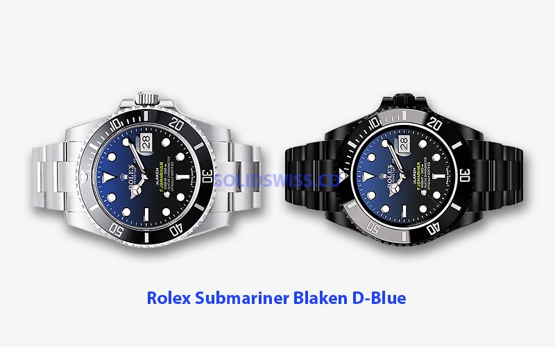 Rolex Submariner Blaken D-Blue Dial | Black Ceramic Bezel