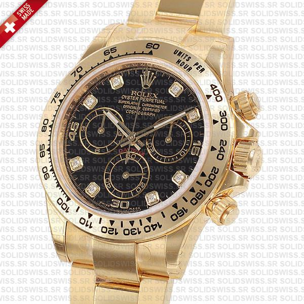 Rolex Oyster Perpetual Cosmograph Daytona 18k Yellow Gold