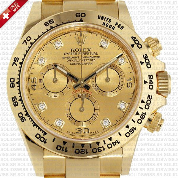 Rolex Cosmograph Daytona 18k Yellow Gold 904L Stainless Steel