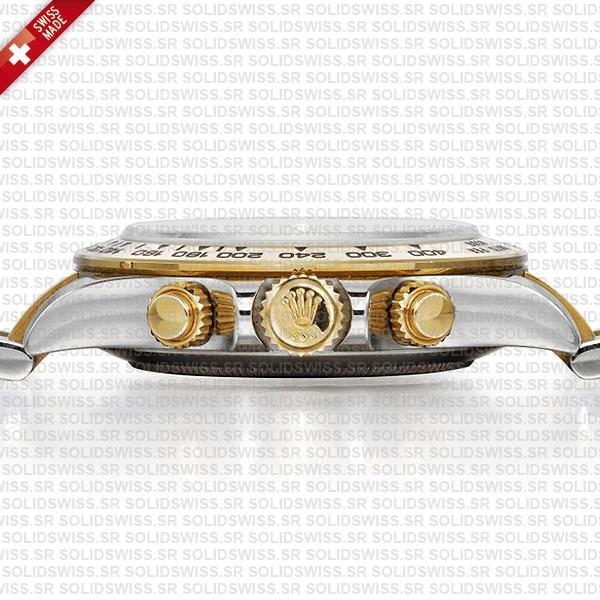 Rolex Cosmograph Daytona Two-Tone 18k Yellow Gold Oyster Bracelet 40mm Swiss Replica Watch