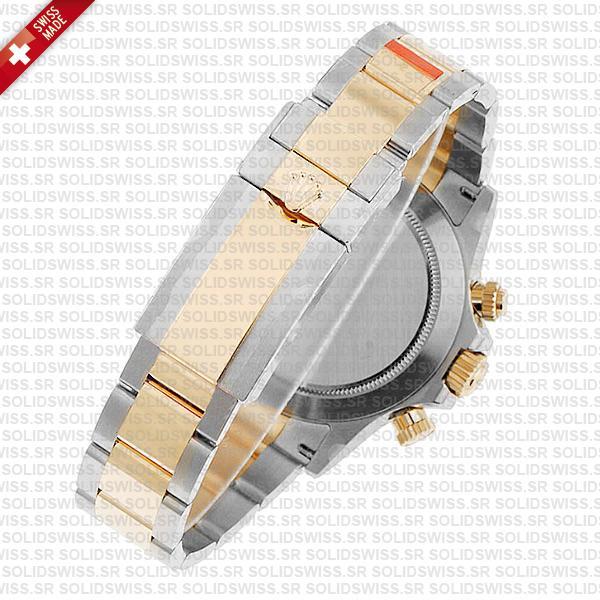 Rolex Cosmograph Daytona Two-Tone 18k Yellow Gold Oyster Bracelet 40mm Replica Watch
