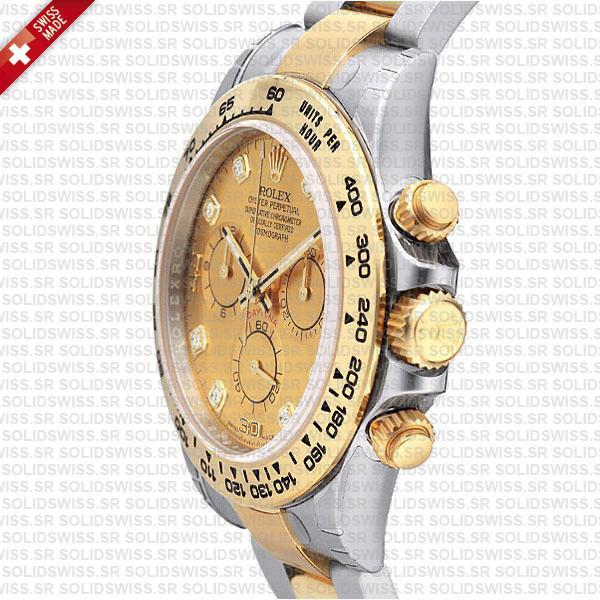 Rolex Daytona Two Tone Gold Diamond Dial Replica