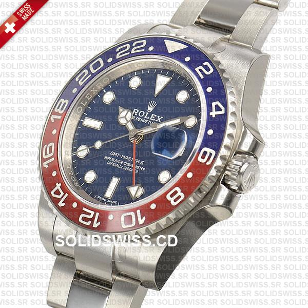 Rolex GMT-Master II Pepsi White Gold Blue Dial 40mm