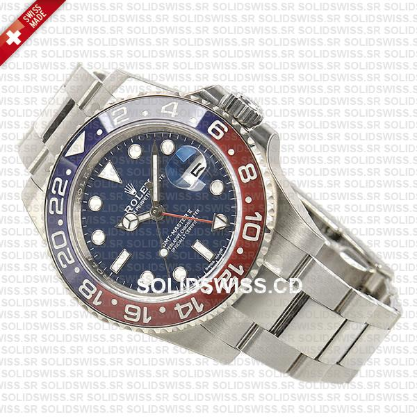 Rolex GMT-Master II Pepsi White Gold Blue Dial 40mm Watch