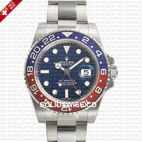 Rolex GMT-Master II Pepsi Stainless Steel | Black Dial Watch