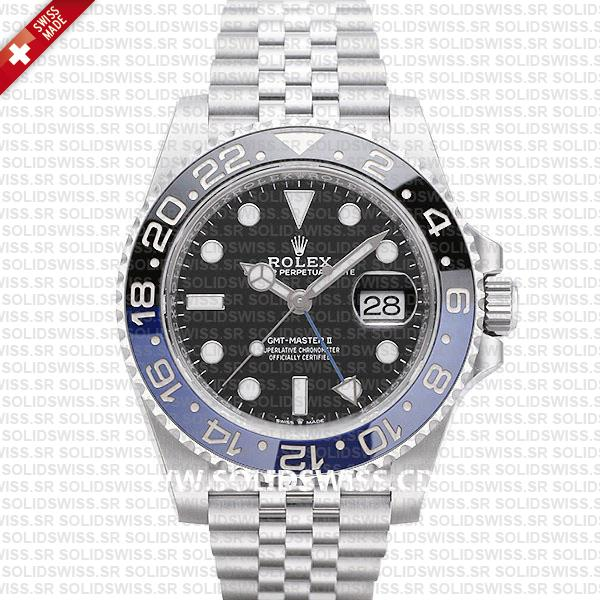 Rolex GMT-Master II Batman Blue Black Ceramic Bezel 40mm