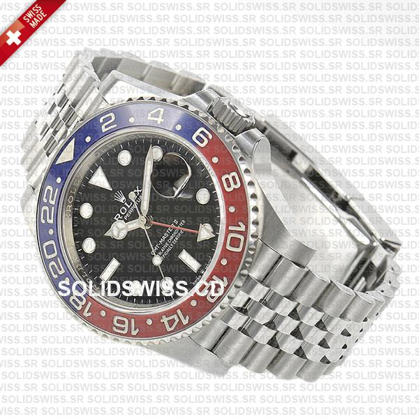 Rolex GMT-Master II Pepsi Bezel 40mm | Jubilee Bracelet Swiss Replica Watch