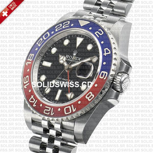 Rolex GMT-Master II Pepsi Bezel 40mm | Jubilee Bracelet Replica Watch
