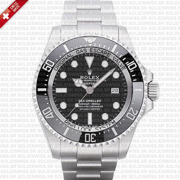 Rolex Deepsea Sea-Dweller 904L Steel Black Dial   Solidswiss