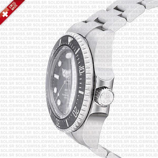 Rolex Deepsea Sea-Dweller 904L Steel Black Dial Ceramic Bezel 44mm