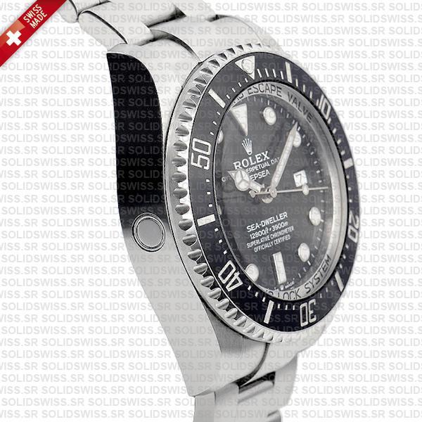 Rolex Deepsea Sea-Dweller 904L Steel Black Dial Watch