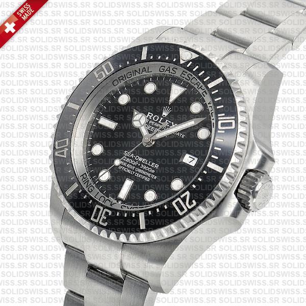 Rolex Deepsea Sea-Dweller 904L Steel Black Dial Replica Watch