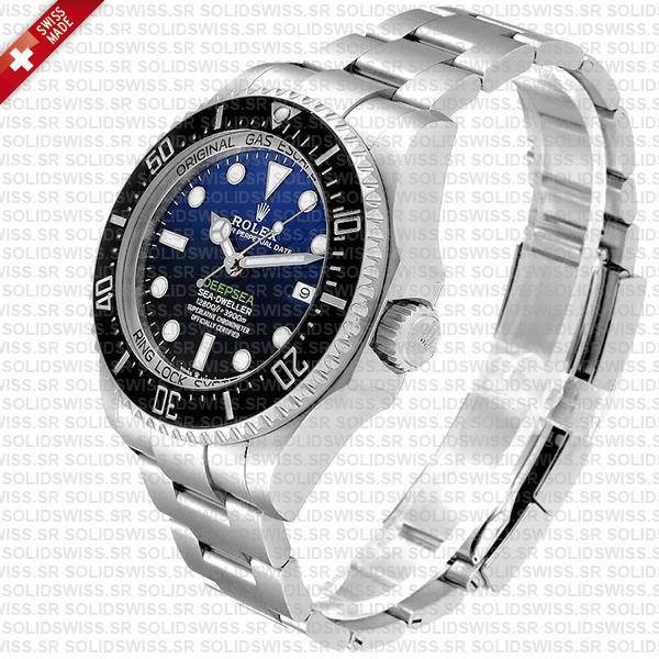 Sea-Dweller Deepsea D-Blue 904L Steel Blue-Black Dial 44mm Watch