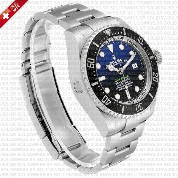 Sea-Dweller Deepsea D-Blue 904L Steel Blue-Black Dial 44mm Replica Watch
