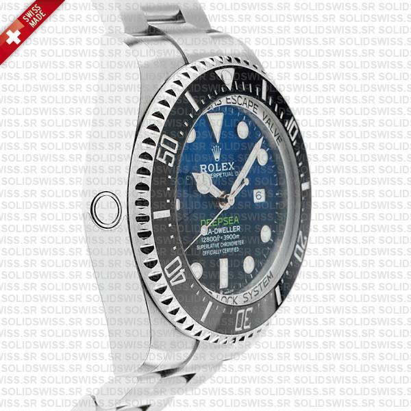 Sea-Dweller Deepsea D-Blue 904L Steel Blue-Black Dial 44mm Swiss Replica Watch