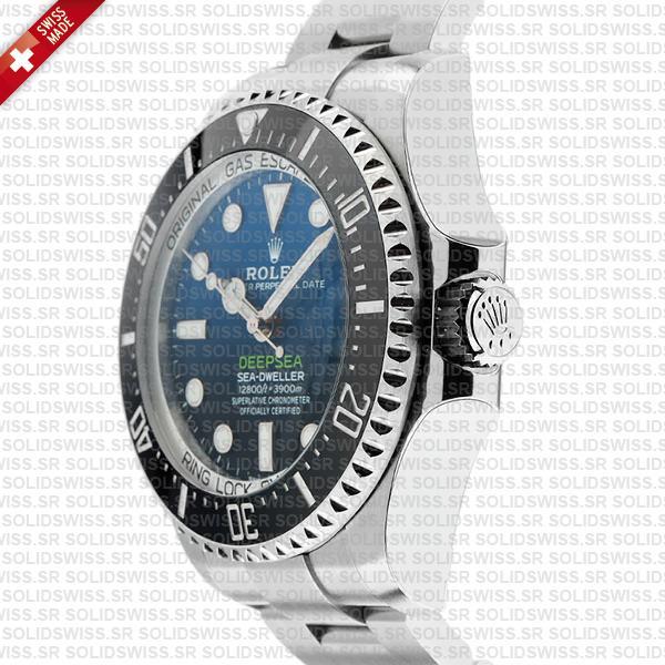 Sea-Dweller Deepsea D-Blue 904L Steel Blue-Black Dial 44mm with Ceramic Bezel James Cameron Edition