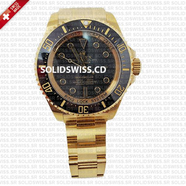 Rolex Sea-Dweller Gold Deepsea 904L Steel Replica Watch