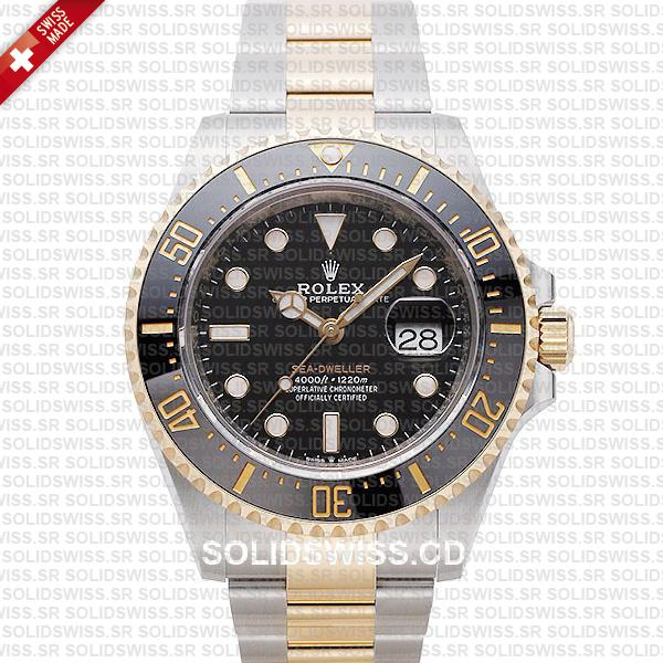 Rolex Sea-Dweller Two Tone | 904L Steel Gold Replica Watch