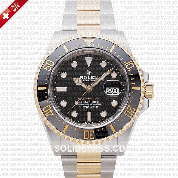 Rolex Sea-Dweller Two Tone   904L Steel Gold Replica Watch