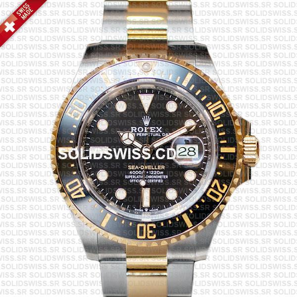 Rolex Sea-Dweller Two Tone | 904L Steel Gold Swiss Replica Watch