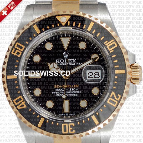 Rolex Sea-Dweller Gold Two Tone 904L Steel