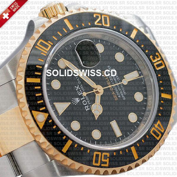 Rolex Sea-Dweller Deepsea Two Tone in 904L Steel Swiss Replica Watch